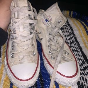 Converse White High Tops Size